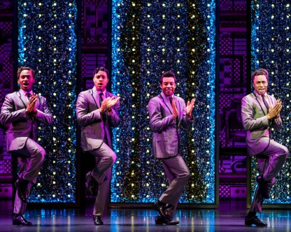 Denver Center_Beautiful_Photos by Matthew Murphy The Drifters. (l to r) Kristopher Stanley Ward, Josh A. Dawson, Avery Smith and Jay McKenzie