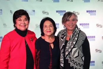 Latin leadership pioneers Polly Baca, Delores Huerta and Juana Bordas.