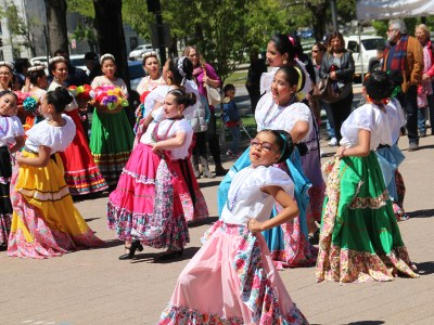 Mexican dance group performs at Dia de los Ninos at the Denver Art Museum. Photo by Latin Life Denver Media