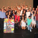 """The Gonzales family & Su Teatro cast members celebrate the special performance of """"The Revolutionist"""" on what would have been the 90th birthday of the playwright and the family's patriarch  Rodolfo """"Corky"""" Gonzales"""