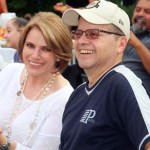 Jackie Munoz, Director of Operations for Museo de las Americas with her hubby.