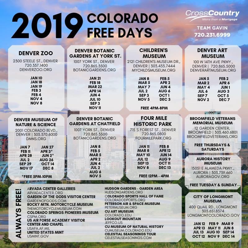 2019 Free Days