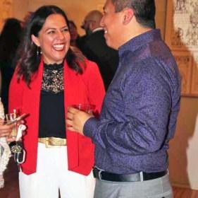 Claudia Moran-Pichardo,(left) Executive Director Museo de las Americas socializing at one of the many events produced by Museo de las Americas. Photo by Latin Life Denver Media