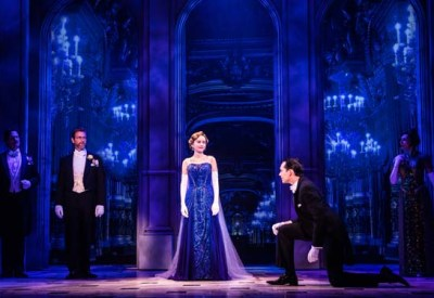 Lila Coogan (Anya), Stephen Brower (Dmitry) and the company of the National Tour of ANASTASIA. Photo by Evan Zimmerman, MurphyMade.