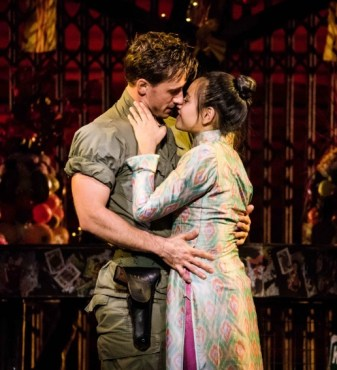Emily Bautista and Anthony Festa as Kim and Chris in the North American Tour of 'Miss Saigon.' Photo by Matthew Murphy.