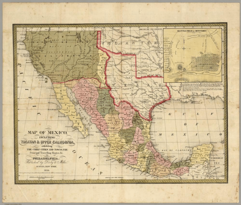 Video When The Us Was Conqueror Of Mexico - Us-map-before-mexican-american-war