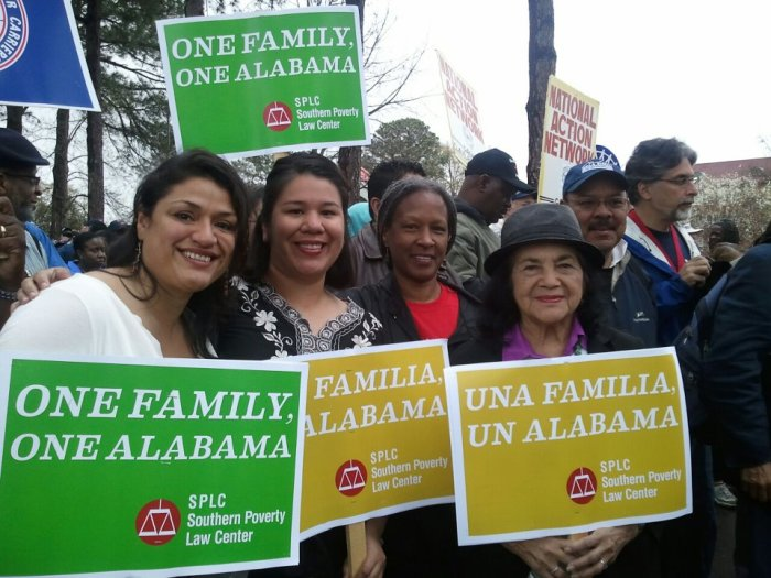 Rebelde Mónica Ramírez (second from left) with Dolores Huerta (far right)
