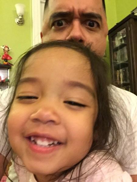 Daniel Garcia with his daughter