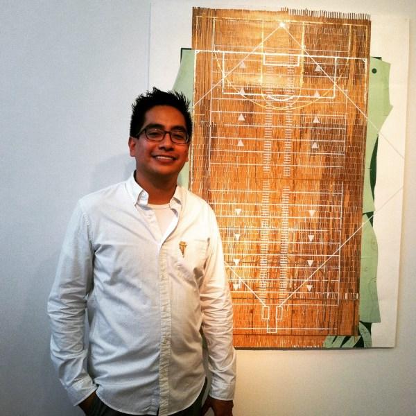 Ronny Quevedo and his piece Cabeza Mágica