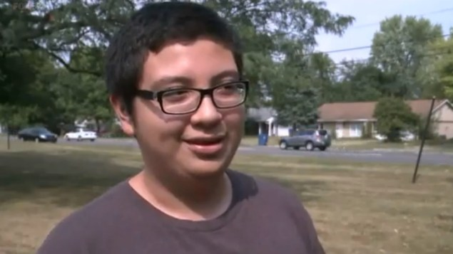 Brian Zaragoza, the 14-year-old who was shot by an unknown assailant shouting racial slurs (Fox 59)