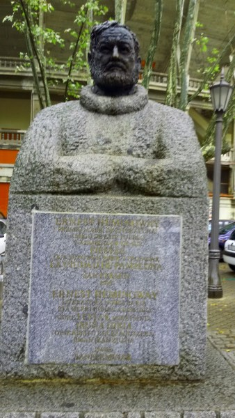 Bust of author Ernest Hemingway
