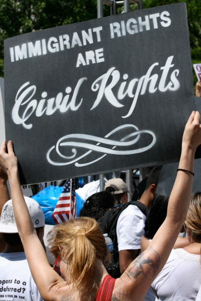 Immigration reform rally in Washington D.C., May 2010 (Nevele Otseog/Flickr)