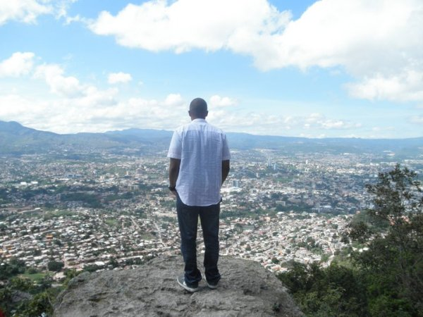 Me standing at the top of El Picacho over looking Tegucigalpa (Brittany Alamo)