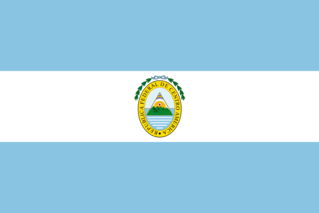 Flag of the Federal Republic of Central America, 1823-1838 (Wikimedia)