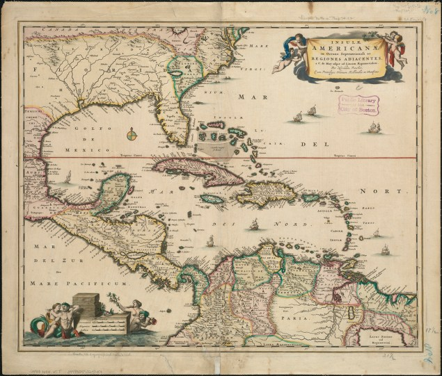A 1680 map of the New World (Norman B. Leventhal Map Center/Flickr)