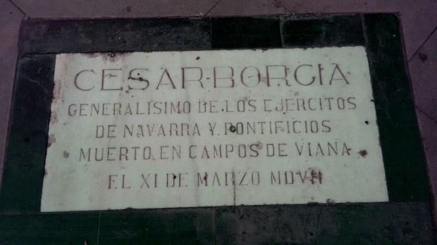 Cesare Borgia plaque