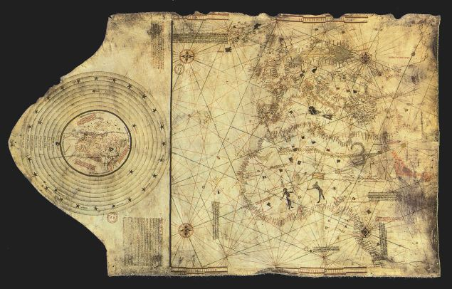 """""""Columbus map"""", drawn c. 1490 in the Lisbon workshop of Bartolomeo and Christopher Columbus (Public Domain)"""