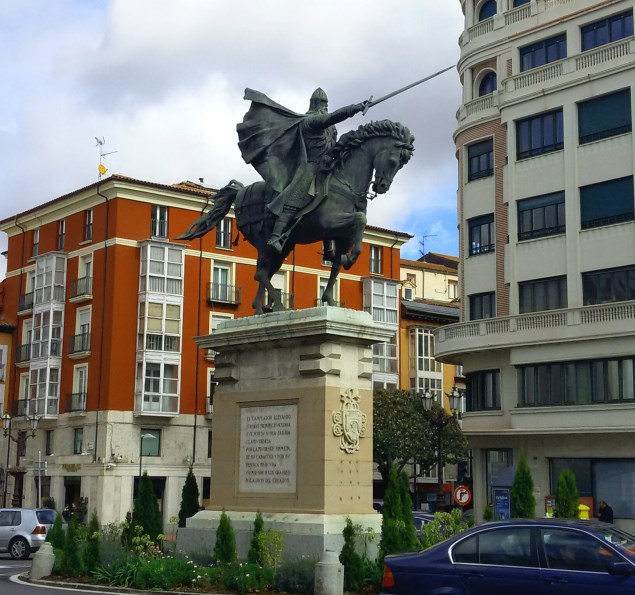 Juan Cristóbal González Quesada's 1954 statue of El Cid in Burgos