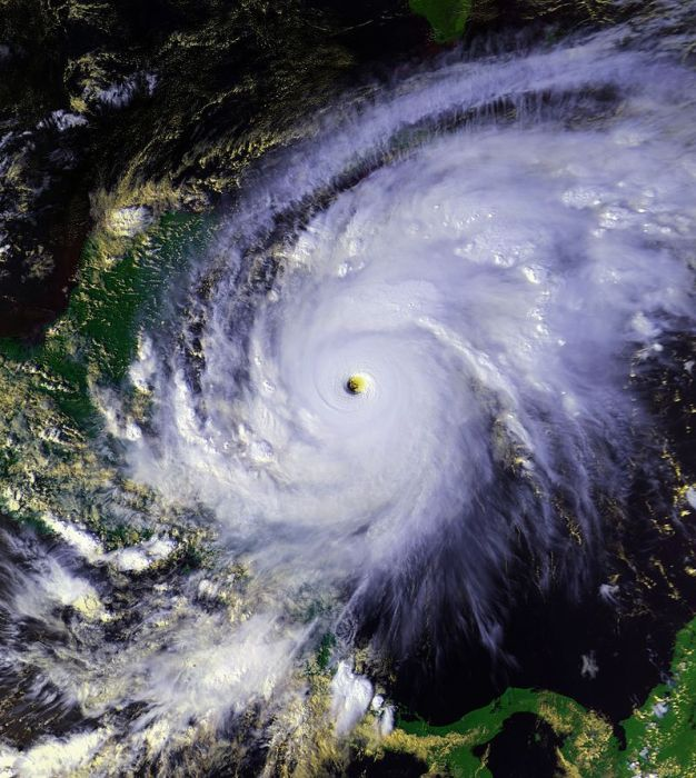 Hurricane Mitch at peak intensity on October 26
