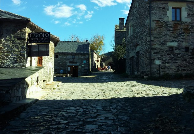 The village of O Cebreiro in Galicia, Spain, a place of much significance to Coelho