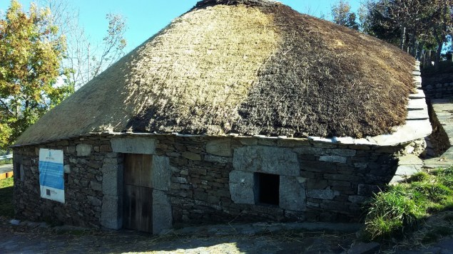 "A ""Palloza,"" one of the ancient homes of Celtic origins in O Cebreiro."