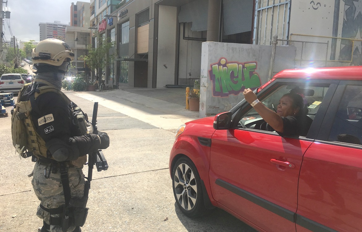 Masked and Armed With Rifles: Military Security Firms Roam Streets of San Juan