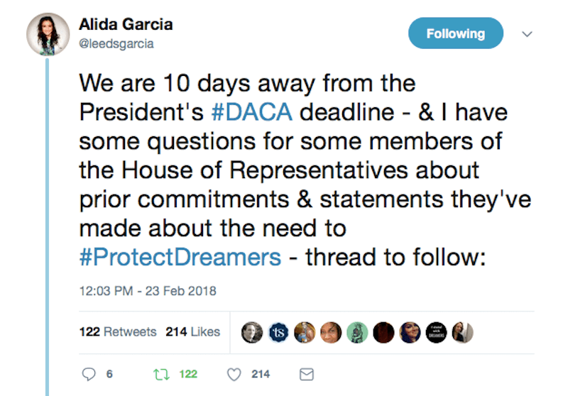 Twitter Thread From Top Immigration Rights Activist Confirms GOP Reps' DACA Hypocrisy