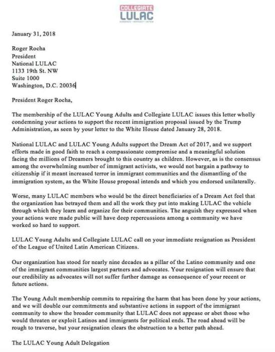 Despite Trump Letter Being Retracted, LULAC Young Adults and ...