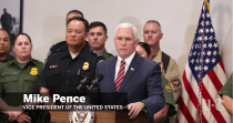VP Pence Says Caravan Migrants Are 'Being Exploited by Open-Border Political Activists and an Agenda-Driven Media'
