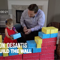 Actual GOP Candidate for Florida Governor Shows His Two-Year-Old Daughter How to 'Build a Wall'