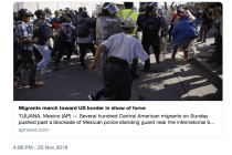 NAHJ Responds to Assault on Migrant Caravan, News Coverage