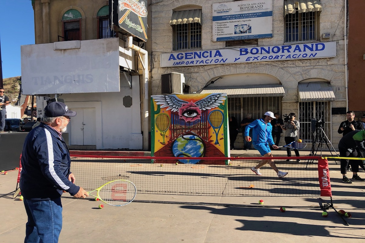 Under Military Presence at the Border, Ambos Nogales Celebrates Community Through Tennis and Art