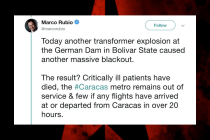 Marco Rubio Sends (Yet Another) Unverified Venezuela Tweet, Blaming Power Outage on a 'German Dam,' Unaware That 'Germán Dam' Is a Journalist
