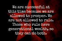 Allowed to Prosper But Not Rule
