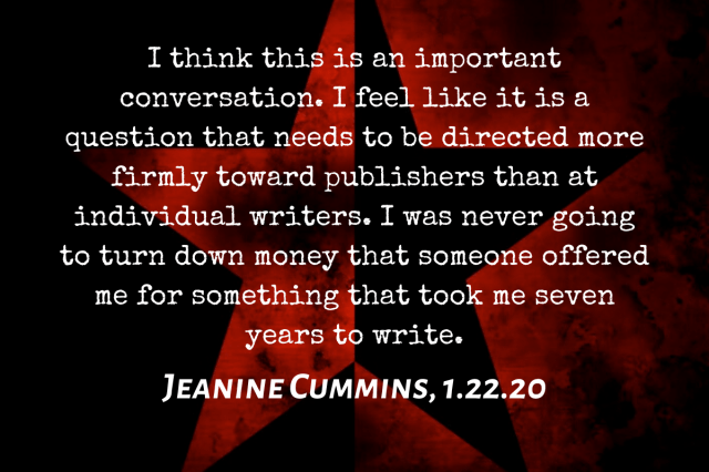 This Is What Jeanine Cummings Said Wednesday About 'American Dirt' Controversy