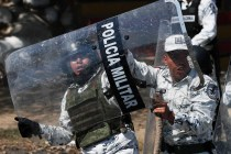 Migrants Scuffle With Mexican Troops Along Border River