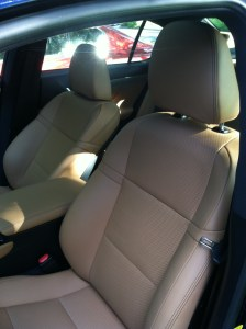 ES350 beige leather seats.