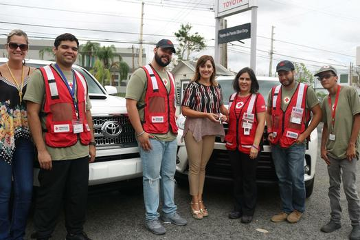 Nice Toyota De Puerto Rico Vice President Nancy Navales (second From Left With  Red Cross Workers During Storm Recovery) Was Left Without Power In Her Home  Four ...