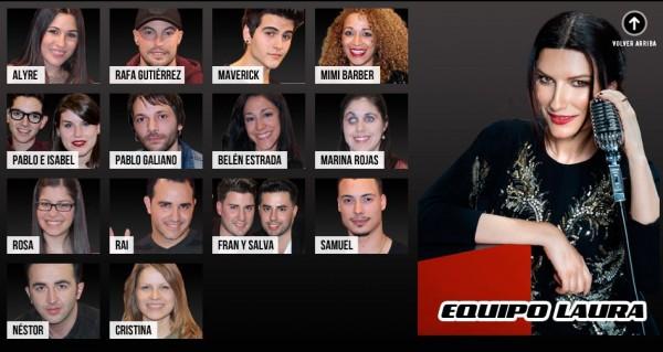 Equipo Laura Pausini La Voz