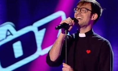 O Padre Damián Maria surpreendeu o público do La Voz Espanha