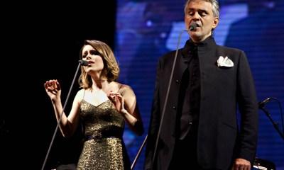 O encontro de Sandy e Andrea Bocelli em Vivo Por Ella é uma das mais famosas reuniões de música brasileira e música latina