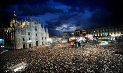 Um dos anos anteriores do Radio italia Live, em Milão