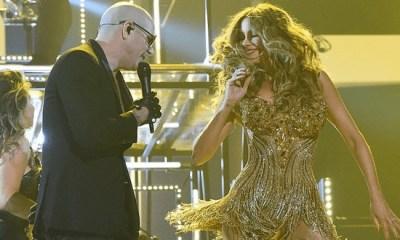 Pitbull cantou com Sofia Vergara no Grammy 2016