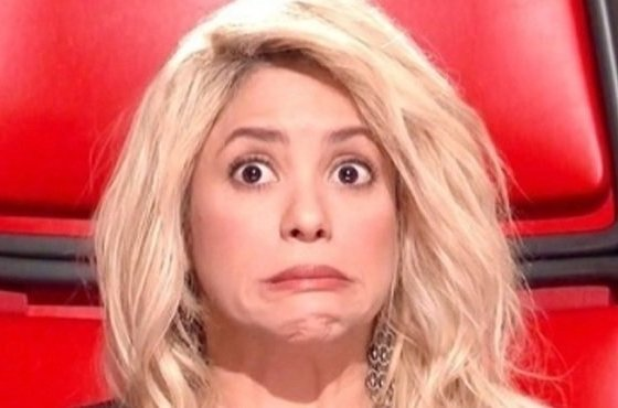 Shakira durante o The Voice