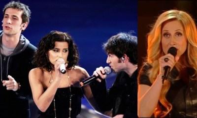 Nelly Furtado e Lara Fabian no Festival de Sanremo