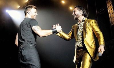 Ricky Martin apareceu de surpresa em show de Maluma noa EUA