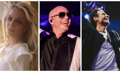 Pitbull, Britney Spears e Marc Anthony preparam hit do verão