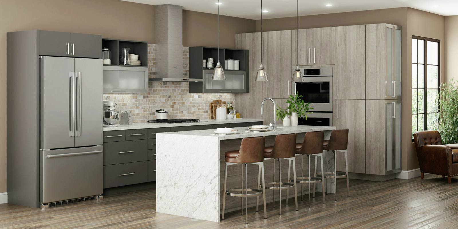 Latitude Cabinets At Lowe's Modern Frameless Kitchen And Bath Cabinets