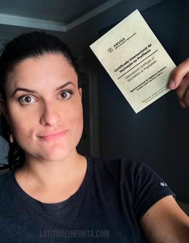 Certificado de Vacinação Internacional – Febre Amarela
