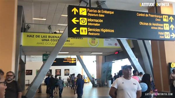dicas de viagem ao Peru: área de desembarque do aeroporto